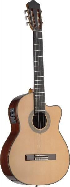 Angel Lopez C1448CFI-S 4/4 Cutaway eingebauter Preamp klassische Gitarre massive Klasse A Fichtendec