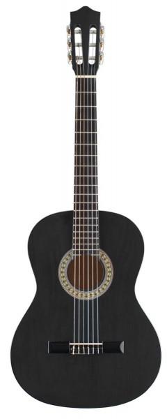 Stagg C530 BK 3/4 Klassik-Gitarre in schwarz mit Lindendecke