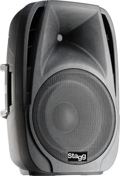 """Stagg PMS12D400UBT EU 2-weg aktiv Lautsprecher, 12"""" Tieftöner, Class D, Bi-Amping, 400 Watt (330 + 7"""