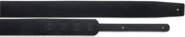 Stagg SLPL 15 BLK Gitarrengurt gepolstert aus schwarzem Wildleder (6,5cm) - Standard