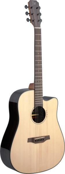 James Nelligan LYN-DCFI Lyne Serie, E/A Dreadnought Gitarre m. Cutaway u. massiver Fichtendecke