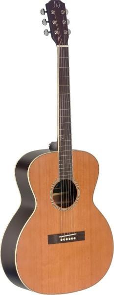 James Nelligan EZR-J NBK 4/4 Jumbo Akustikgitarre mit massiver Decke aus Zeder, Ezra Serie