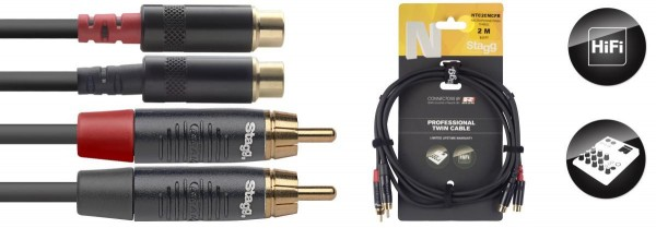 Stagg NTC2CMCFR N-Serie Twin Kabel