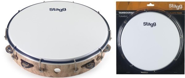 Stagg TAB-112P/WD 12 Zoll stimmbares Kunstststoff Tambourin