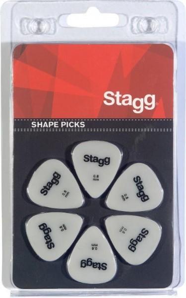 Packung mit 6 Stagg 0.6 mm Standard Kunststoff Plektren