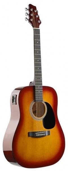 Stagg SW201CS-VT Elektroakustische Dreadnought Gitarre