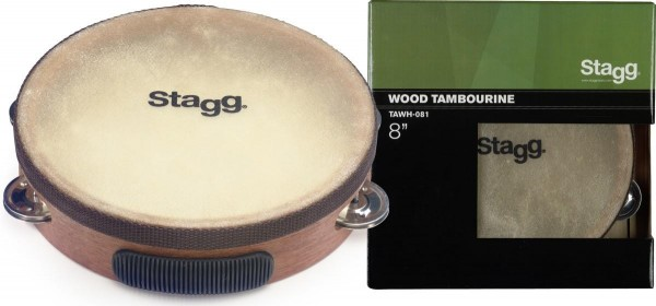 Stagg TAWH-081 8 Zoll vorgestimmtes Holz-Tambourin