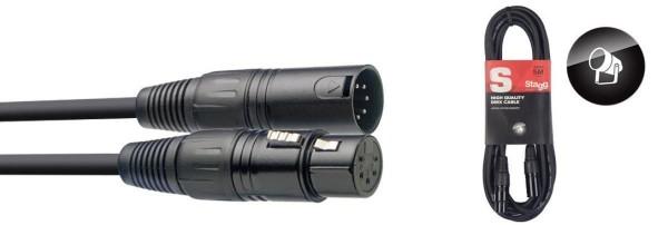 Stagg DMX-Kabel SDX5-5 XLR/XLR m/f 5 Pins 5 m