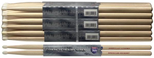 Stagg SH7AN American Hickory Drumsticks Nylon Tip / 7A / Preis für 1 Paar