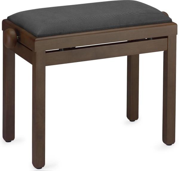 Stagg Klavierbank in Nuss dunkel matt mit schwarzem Stoffbezug