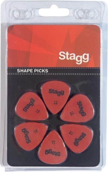 Packung mit Stagg 1 mm Standard Kunststoff Plektren