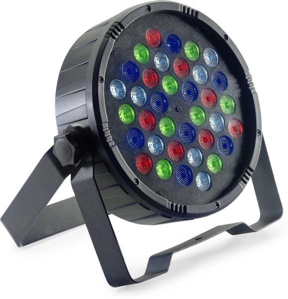 Stagg SLI-ECOPAR36-2 Flat ECOPAR 36 Spot mit 36 x 1-Watt R/G/B/W LEDs