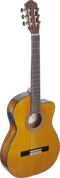Angel Lopez SIL-TCE HG Silvera Serie 4/4 Cutaway eingebauter Preamp klassische Gitarre dünner Korpus