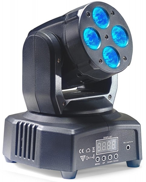 Stagg SLI MHW HB8-0 HeadBanger 8 Moving-Head mit 4 x 10-Watt RGBW LED (Headbanger Mini 8)