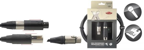 Stagg XAC3XFXFM X-Serie, audio Kabel - XLR m/f ==> XLR f