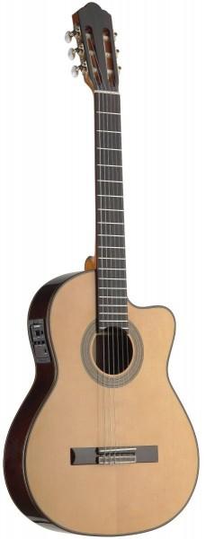 Angel Lopez C1448TCFI-S 4/4 eingebauter Preamp klassische Gitarre mit dünnem Korpus und massive Klas