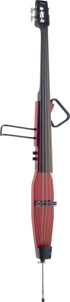 Stagg EDB-3/4RDL TR 3/4 Deluxe E-Kontrabass mit Gigbag, Transparent Rot