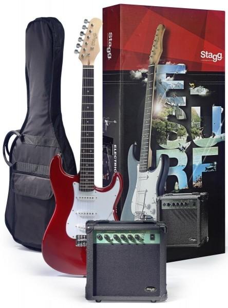 Stagg ESURF 250 TR EU Surfstar E-Gitarre + Verstärker Pack