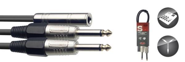Stagg SYC050/JS2P E Y-Kabel. Klinke/Klinke (f/m), 50 cm