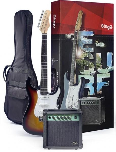 Stagg ESURF 250 SB EU Surfstar E-Gitarre + Verstärker Pack