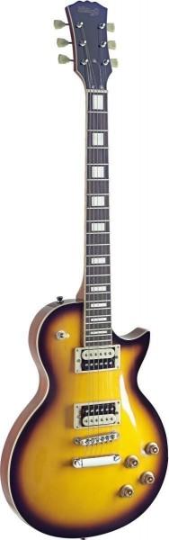 Stagg SEL-ZEB-2TS L Serie, Zebra E-Gitarre m. massivem Mahoganikorpus u. gewölbter Ahorndecke