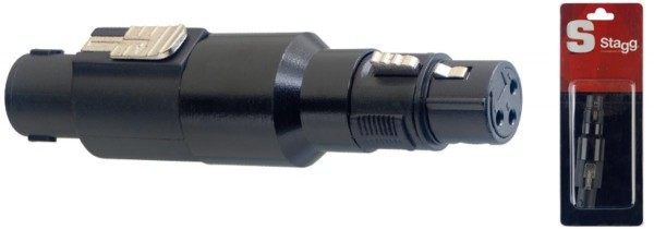 Stagg AC-SMXFH 1 x Mannliche lautsprecher-stecker/ Weibliche XLR adapter im blister