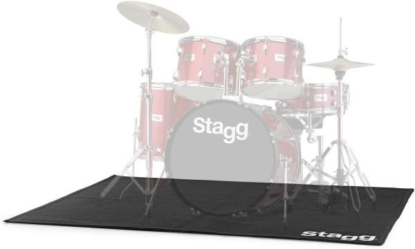 Stagg SCADRU1815 Professioneller Schlagzeugteppich mit Transporttasche