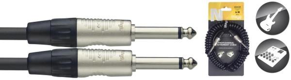 Stagg NGCC6R Klinke/Klinke m/m Instrumenten-Spiralkabel N-Serie 6 m