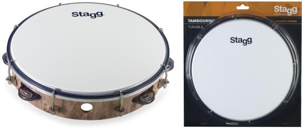 Stagg TAB-110P/WD 10 Zoll timmbares Kunststoff Tambourin