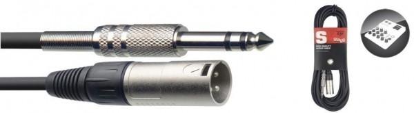 Stagg SAC3PSXM Audio-Kabel, XLR/Klinke (m/m), 3 m, symmetrisch