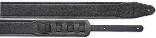 Stagg SLPL 40 BLK Gitarrengurt gepolstert aus schwarzem Leder (7cm) - Standard