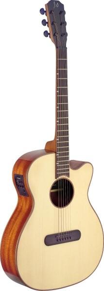 James Nelligan LIS-MJCFI Lismore Serie, E-A Mini-Jumbo-Gitarre m. Cutaway u. massiver Fichtendecke