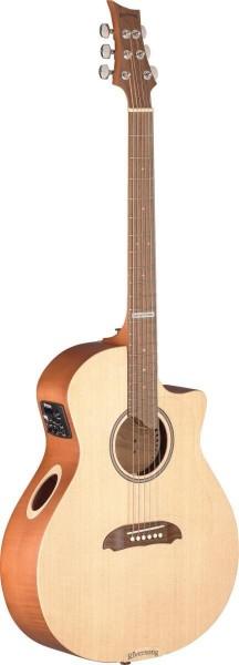 Stagg TRAD CDN PSE GA Tradition Special Edition Serie 4/4 Cutaway Auditorium Gitarre mit Decke aus m