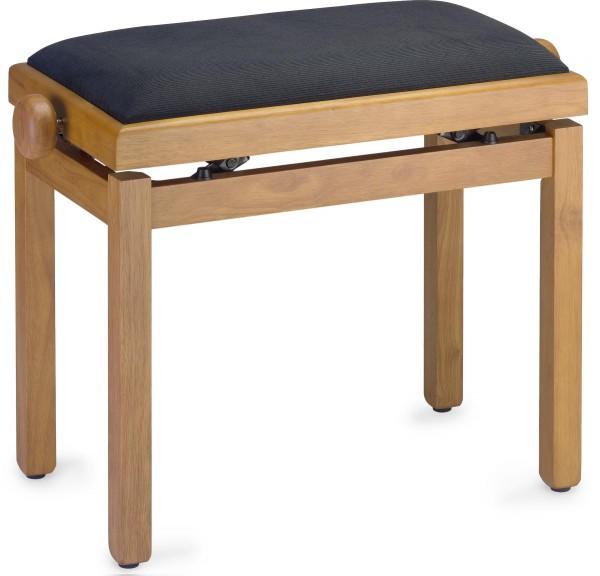 Stagg Klavierbank in Kirsch light matt mit schwarzem Stoffbezug