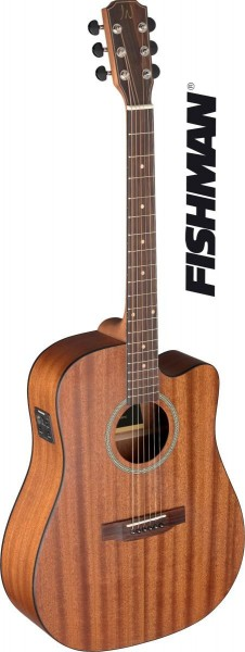 James Nelligan DEV-DCFI Deveron Serie Cutaway Akustik-Elektrik Dreadnought Gitarre mit massiver Maha