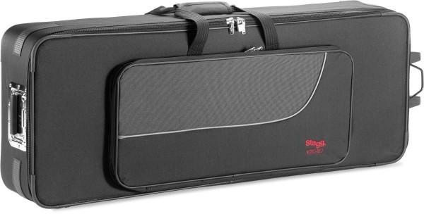 Stagg KTC-117 Terylene Softcase für Keyboards, mit Rollen und ausziehbarem Griff