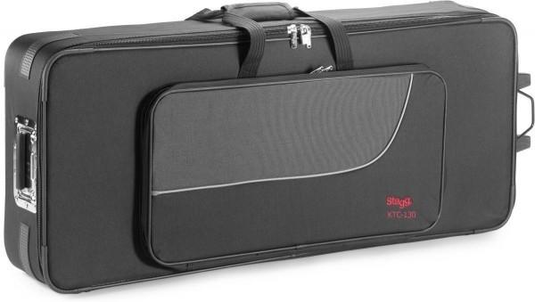 Stagg KTC-130 Leichter Keyboardkoffer 10mm mit Rollen und Griff (129,4 x 46,3 x 15,7 cm)
