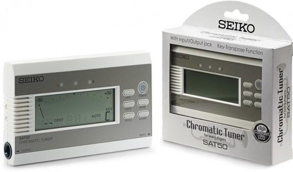 Seiko SAT50 Stylishes chromatisches Stimmgerät m. Transponierfunktion