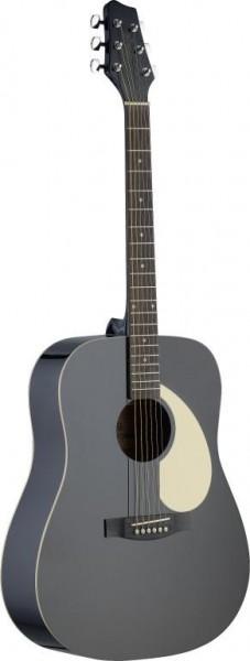 Stagg SA30D-BK Dreadnought, akustische Gitarre m. Lindendecke