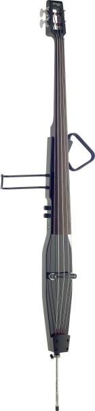 Stagg EDB-3/4RDL MBK 3/4 Deluxe E-Kontrabass mit Gigbag, Schwarz Metallic