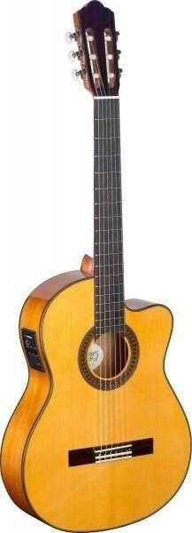 Angel Lopez CF1246CFI-S 4/4 Cutaway eingebauter Preamp Flamenco klassische Gitarre massive Fichtende