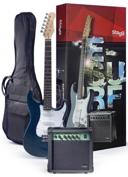 Stagg ESURF 250 TB EU Surfstar E-Gitarre + Verstärker Pack