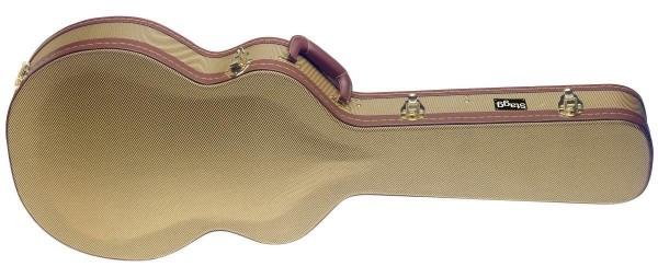 Stagg GCX-SA GD Gold Tweed Deluxe-Koffer für Semi-Akustik-Gitarre