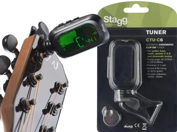 Stagg CTU-C6 Automatisches, chromatisches Clip-On Stimmgerät