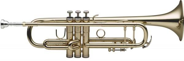 Levante 77-TCB/SC B-Trompete, Edelstahl Ventile, Goldlack, Softcase