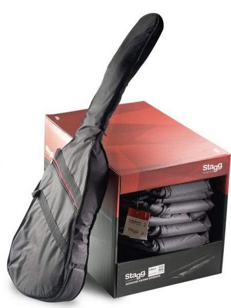 Stagg STB-LA10UE PACK Packung aus 10 Basic Serie gepolsterte Nylontaschen für E-Gitarre