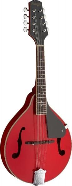 Stagg M20 RED Rote Bluegrass-Mandoline mit Decke aus Lindenholz