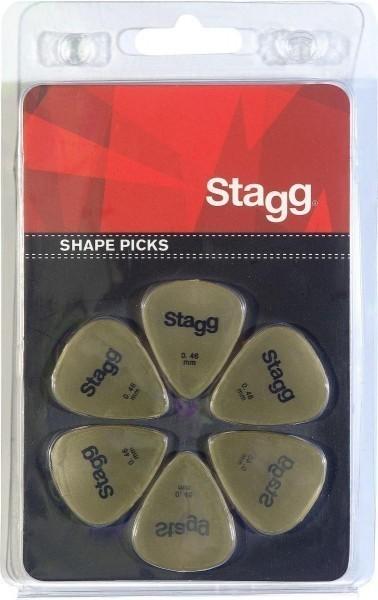 Packung mit 6 Stagg 0.46 mm Standard Kunststoff Plektren