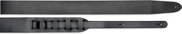 Stagg SL 12-5 BLK 6cm Gitarrengurt aus schwarzem Leder - Standard