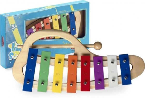Stagg META-KC8 gebogenes Glockenspiel für Kinder mit 8 Klangplatten bunt